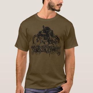 Versierd Vinmot (vintage zwarte) T Shirt