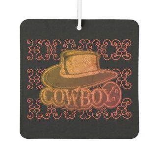 Versleten Veelkleurig van het Pet van de cowboy Luchtverfrisser
