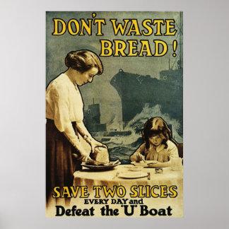 Verspil geen Brood Poster