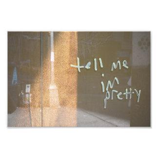 Vertel me ik ben Mooie NYC Stedelijke Fotografie Foto Afdruk