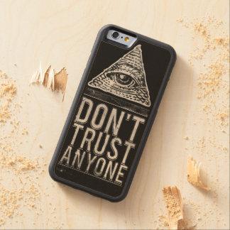 Vertrouw niet op iedereen esdoorn iPhone 6 bumper case