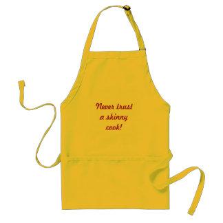 Vertrouw nooit op een magere kok! standaard schort