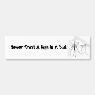 Vertrouw nooit op een Man in een sticker van de Bu