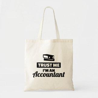 Vertrouw op me ik ben een accountant draagtas
