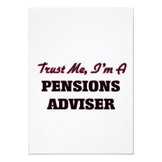 Vertrouw op me ik ben een Adviseur van Pensioenen Persoonlijke Uitnodigingen