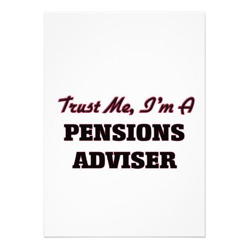 Vertrouw op me ik ben een Adviseur van Pensioenen Persoonlijke Uitnodiging