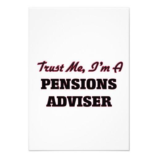 Vertrouw op me ik ben een Adviseur van Pensioenen Uitnodiging