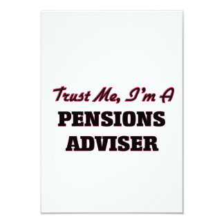Vertrouw op me ik ben een Adviseur van Pensioenen 8,9x12,7 Uitnodiging Kaart