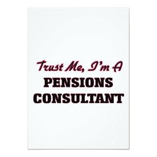 Vertrouw op me ik ben een Adviseur van Pensioenen 12,7x17,8 Uitnodiging Kaart