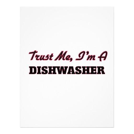 Vertrouw op me ik ben een Afwasmachine Folder Ontwerp