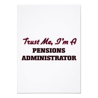 Vertrouw op me ik ben een Beheerder van Pensioenen Gepersonaliseerde Uitnodigingen