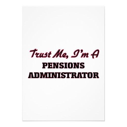 Vertrouw op me ik ben een Beheerder van Pensioenen Gepersonaliseerde Uitnodiging