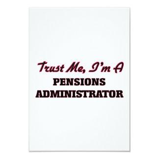 Vertrouw op me ik ben een Beheerder van Pensioenen 8,9x12,7 Uitnodiging Kaart