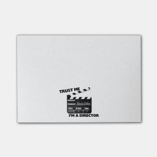 Vertrouw op me ik ben een Directeur Clapboard Post-it® Notes