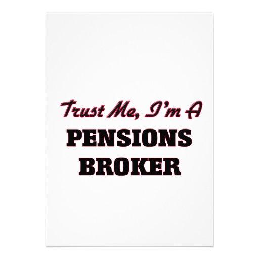 Vertrouw op me ik ben een Makelaar van Pensioenen Gepersonaliseerde Uitnodiging