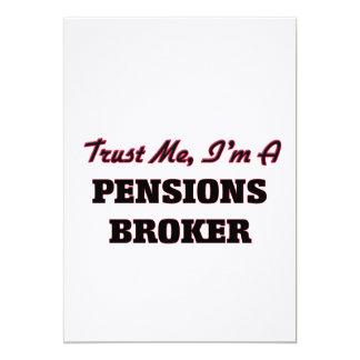 Vertrouw op me ik ben een Makelaar van Pensioenen Custom Uitnodigingen