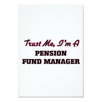 Vertrouw op me ik ben een Manager van het Fonds Gepersonaliseerde Uitnodiging