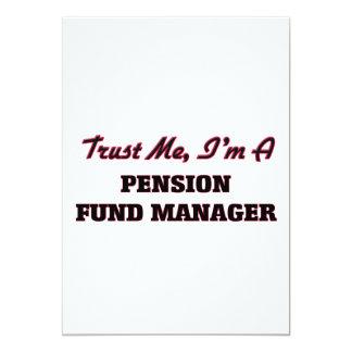 Vertrouw op me ik ben een Manager van het Fonds 12,7x17,8 Uitnodiging Kaart