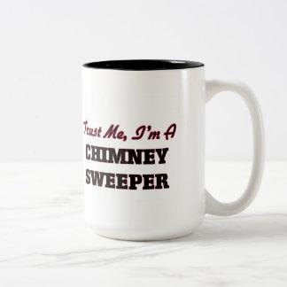 Vertrouw op me ik ben een Schoorsteenveger Tweekleurige Koffiemok