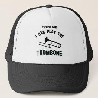 Vertrouw op me ik kan de TROMBONE spelen Trucker Pet