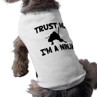 Vertrouw op me t-shirt