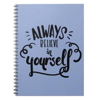 Vertrouwen, het Motivatie Citaat van de Houding Notitieboek