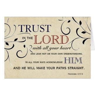 Vertrouwen in Lord Encouragement Card Kaart