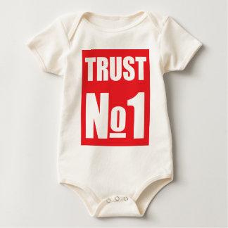 Vertrouwen niemand baby shirt