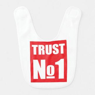 Vertrouwen niemand baby slabbetje