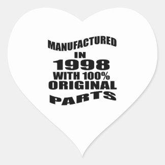 Vervaardigd in 1998 met de Originele Delen van Hart Sticker