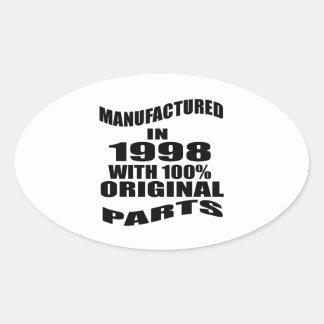 Vervaardigd in 1998 met de Originele Delen van Ovale Sticker