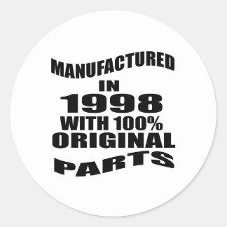 Vervaardigd in 1998 met de Originele Delen van Ronde Sticker