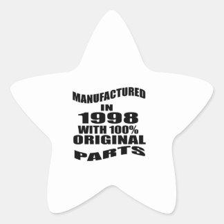 Vervaardigd in 1998 met de Originele Delen van Ster Sticker