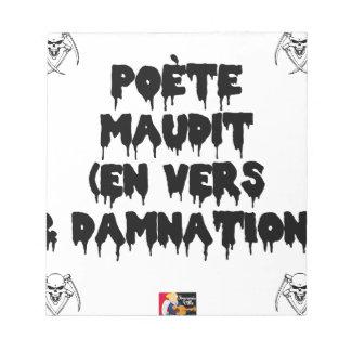 Vervloekte dichter (EN NAAR EN VERVLOEKING) - Notitieblok