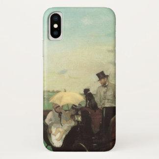 Vervoer bij de Rassen door Edgar Degas, Vintage iPhone X Hoesje