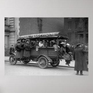 Vervoer van de Meisjes van de Telefoon, 1916 Poster