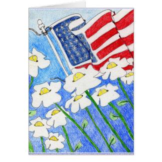 Vervreemde Ziel: Bloemen die de Vlag van de V.S. Kaart