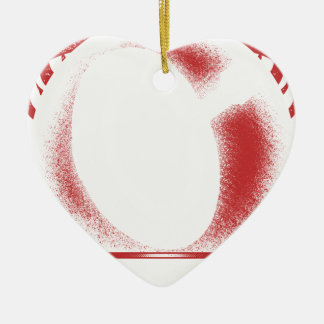 verwacht x keramisch hart ornament