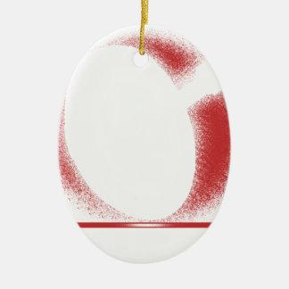 verwacht x keramisch ovaal ornament
