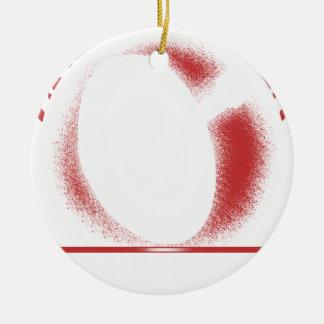 verwacht x rond keramisch ornament