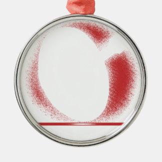 verwacht x zilverkleurig rond ornament