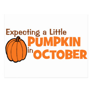 Verwachtend A Weinig Pompoen in Oktober Briefkaart