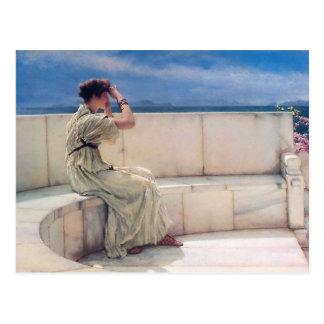 Verwachtingen door Lawrence Alma Tadema Briefkaart