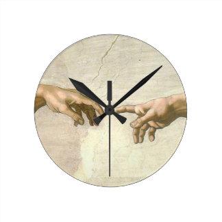 Verwezenlijking van Adam Hands - Michelangelo Ronde Klok