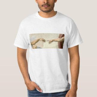 Verwezenlijking van Adam Hands - Michelangelo T Shirt