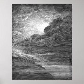 Verwezenlijking van Licht, door Gustave Doré Poster