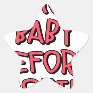 verwijder baby vóór grappig wassen, ster sticker