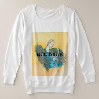 Verzacht als lang sleeved het t-shirtoverhemd van grote maat sweater