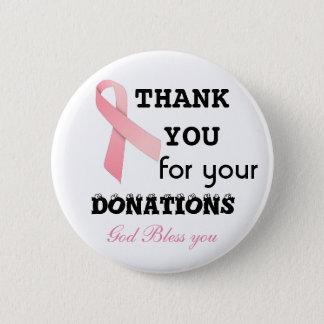 verzamel schenkingen voor kankerbodem ronde button 5,7 cm