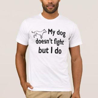 Verzet me hond het vechten liefdehonden t shirt